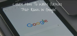 how to write articles that rank on Google