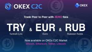 OKEx added support for the euro and the Russian ruble on a p2p platform Malta-based cryptobirth OKEx added support for three fiat currencies to its p2p platform — the Russian ruble, the euro, and the Turkish lira.